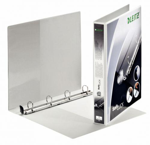 Leitz Premium SoftClick Presentation Ring Binder Polypropylene 4 D-Ring A4 Plus 20mm Rings White (Pack 6) 42000001