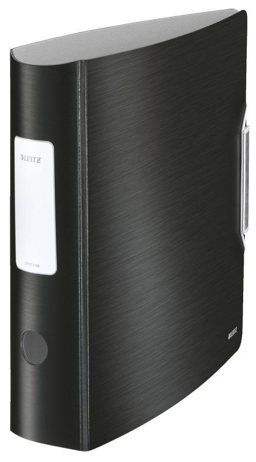 Leitz 180 Active Style LAF A4 PP 80mm Satin Black PK5