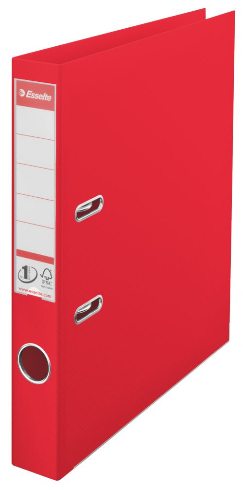 Esselte No.1 Power Polypropylene Mini Arch File A4 50mm Red 624072
