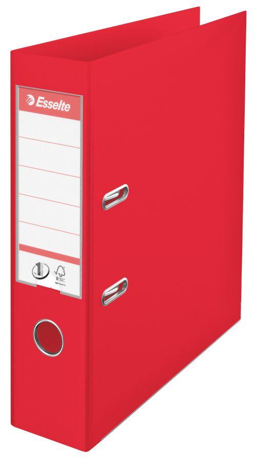 Esselte No.1 VIVIDA Lever Arch File PP A4 75mm Red PK10