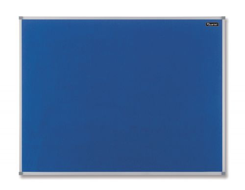 Quartet Felt Notice Board Aluminium Trim 1200x900mm Blue