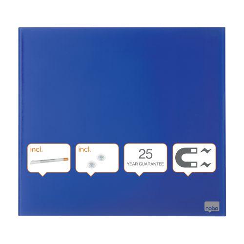 Nobo Diamond Drywipe Board Magnetic 450x450mm Blue