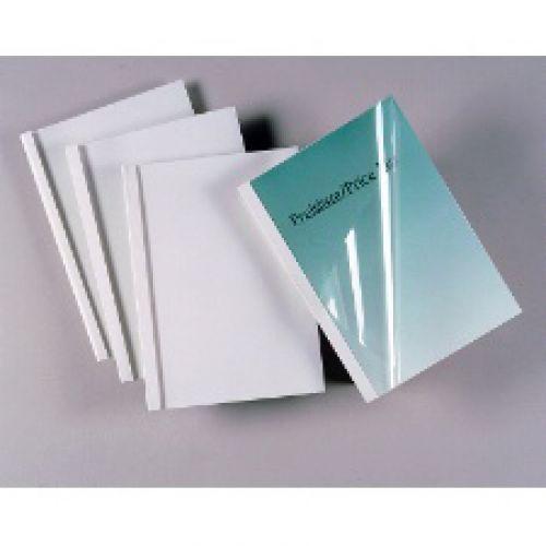 GBC Binding Covers Silk 1.5mm White Ref 45445 [Pack 25]