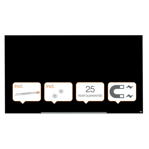 Nobo Diamond Glass Black 1883x1053mm