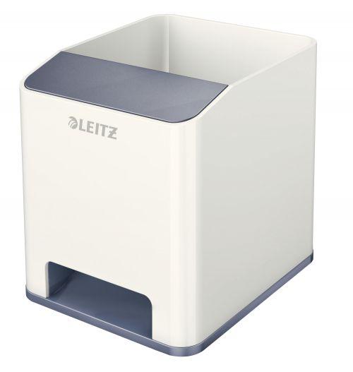 Leitz WOW Duo Colour Sound Pen Holder White 53631001 (PK1)