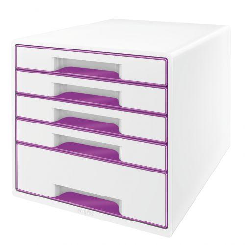 Leitz Wow Cube 5 Drawer Purple