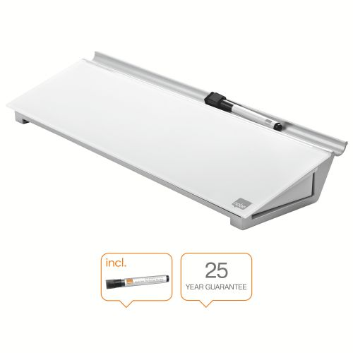 Nobo Glass Desktop Whiteboard Pad Brilliant White
