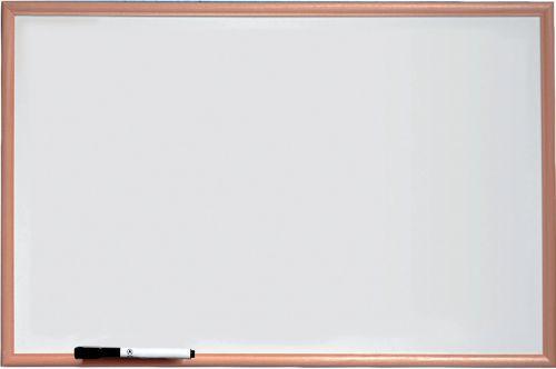 Image for Nobo Basic Melamine Pine Frame Whiteboard 600x400mm