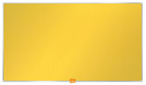 Nobo Widescreen 32in Felt Yellow Noticeboard