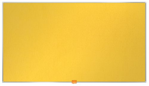 Nobo Widescreen 40in Felt Yellow Noticeboard