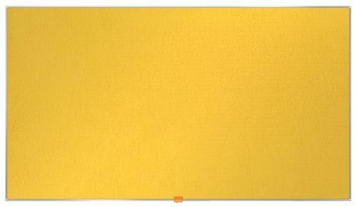 Nobo Widescreen 55inch Noticeboard 1220x690mm Yellow Felt 1905320