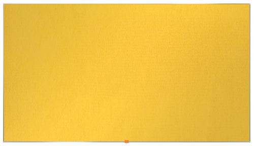 Nobo Widescreen 85in Felt Yellow Noticeboard