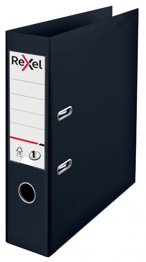 Rexel Choices A4 PP Lever Arch File Black PK10