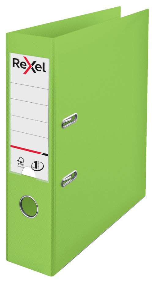 Rexel Choices A4 PP Lever Arch File Green PK10