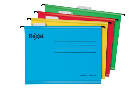 Rexel Classic Suspension Files A4 Assorted PK10