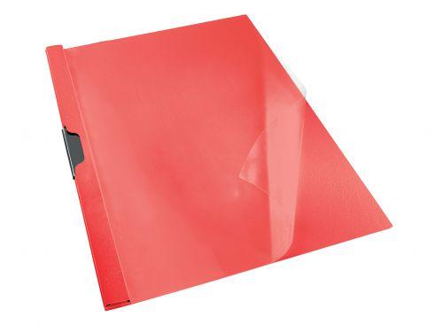 Rexel Choices Clip File A4 Red PK25