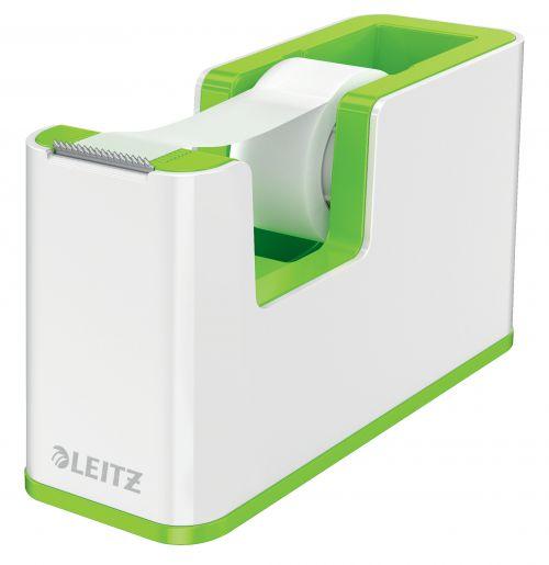Leitz WOW Tape Dispenser Dual Colour White/Green