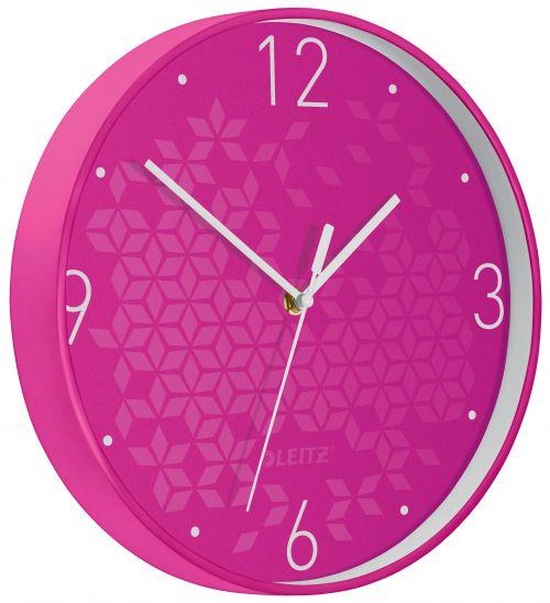 Leitz WOW Wall Clock Pink