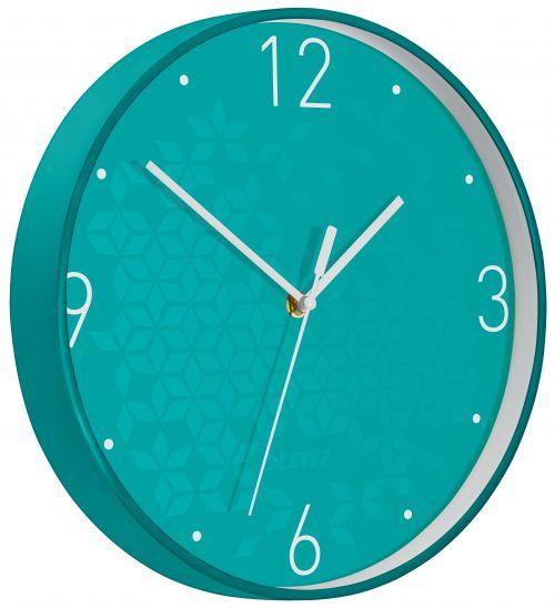 Leitz WOW Wall Clock Ice Blue