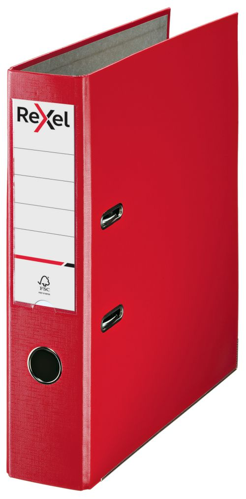 Rexel Lever Arch File Polypropylene ECO A4 75mm Red 2115713