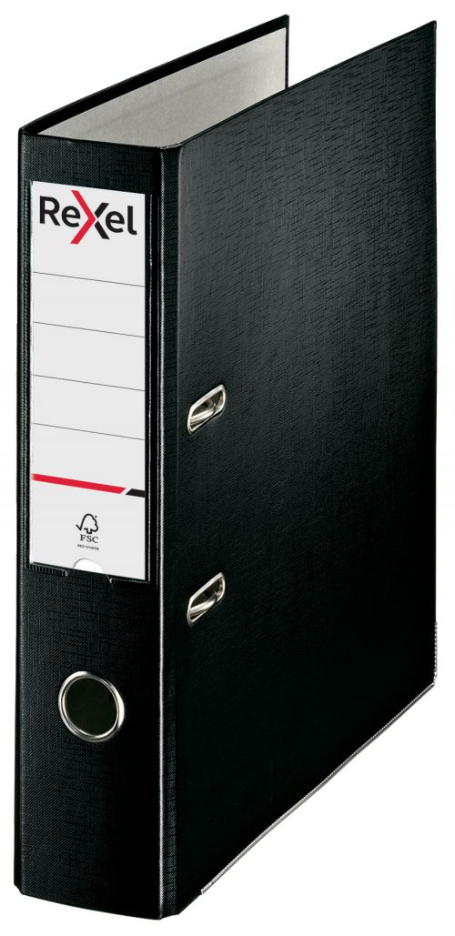Rexel Lever Arch File Polypropylene ECO A4 75mm Black 2115715