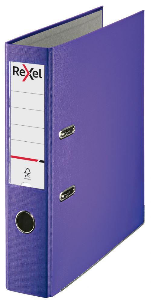 Rexel Lever Arch File Polypropylene ECO A4 75mm Purple 2115716