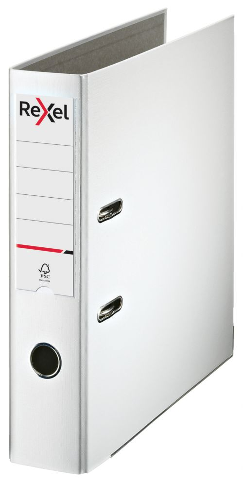 Rexel Lever Arch File ECO A4 PP 75mm White