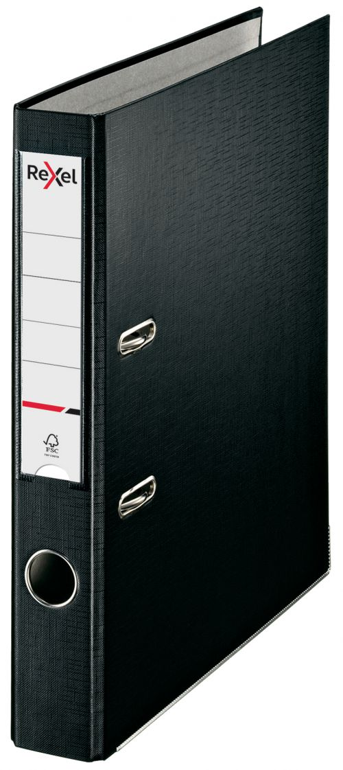 Rexel Lever Arch File ECO A4 PP 50mm Black Box 25