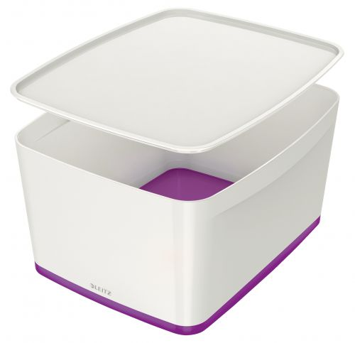 Leitz MyBox Large with Lid WOW White Purple