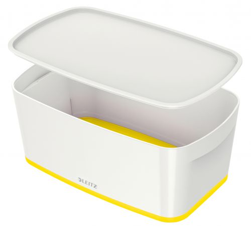 Leitz MyBox Small with Lid WOW White Yellow