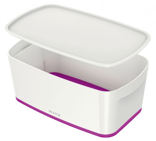 Leitz MyBox Small with Lid WOW White Purple