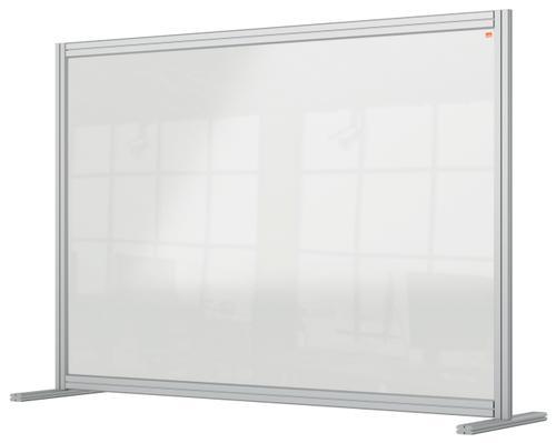 Nobo Premium Plus Desk Divider 1400x1000mm Acrylic