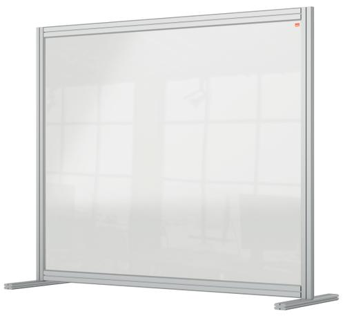 Nobo Premium Plus Acrylic Desk Protective Divider Screen Modular System 1200x1000mm Clear