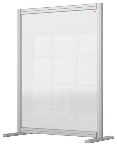 Nobo Premium Plus Desk Divider 800x1000mm Acrylic