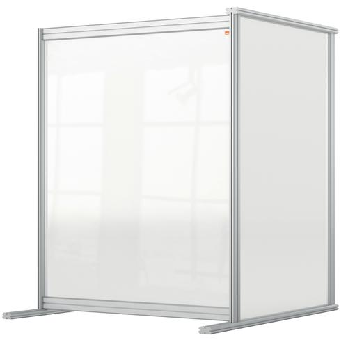 Nobo Premium Plus Acrylic Desk Protective Divider Screen Modular System Extender 800x1000mm Clear