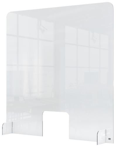 Nobo Plexiglass Counter Screen with hole 700x850mm