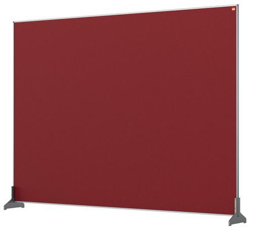 Nobo Impression Pro Desk Divider 1400x1000mm Red