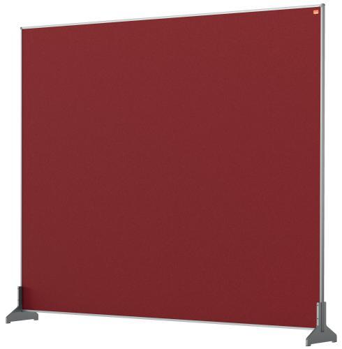 Nobo Impression Pro Desk Divider 1200x1000mm Red