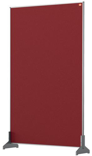 Nobo Impression Pro Desk Divider Screen Felt 600x1000mm Red