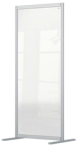 Nobo Premium Plus Floor Divider 800x1800mm Acrylic