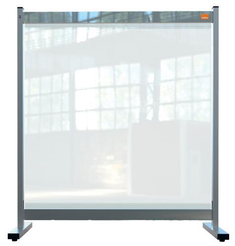 Nobo Prem Clear PVC Protective Desk Dvdr Screen 770x860mm