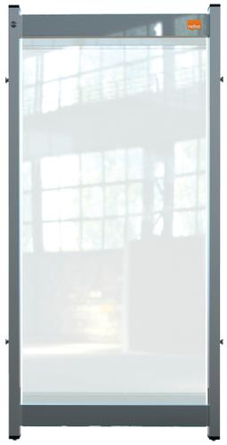Nobo Prem Clear PVC Mod System Desk Dvdr Scrn 400x820mm