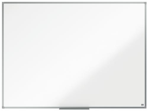 ValueX Melamine Non Magnetic Whiteboard Aluminium Trim 1200x900mm