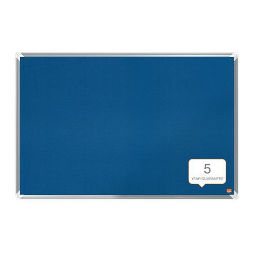 Nobo Premium Plus Blue Felt Notice Board 900x600mm
