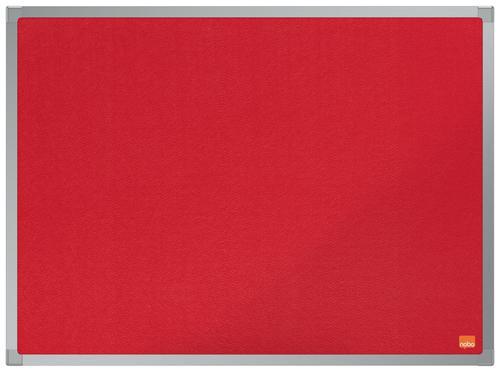 Nobo Essence Red Felt Notice Board 600x450mm
