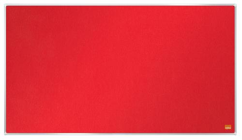 Nobo Impression Pro Widescreen Red Felt Board 710x400mm