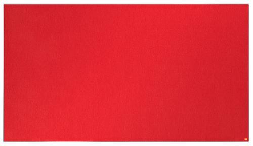 Nobo Impression Pro Widescreen Red Felt Board 1880x1060mm