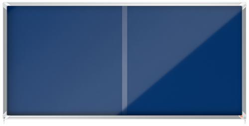 Nobo Premium Plus Blue Felt Lockable Notice Board 27xA4