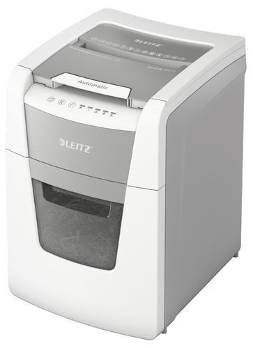 Leitz IQ AutoFeed Small Office 100 Cross Cut Shredder 34 Litre 100 Sheet Automatic/8 Sheet White