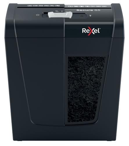 Rexel Secure S5 Strip Cut Shredder 10 Litre 5 Sheet Black
